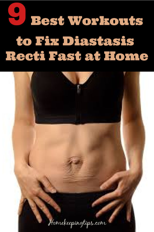 9 Best Workouts to Fix  Diastasis Recti Fast at Home for Women at Home