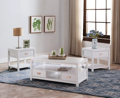 Kings Brand 3-Piece Coffee Table Set