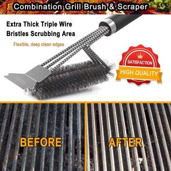 Poligo Grill Brush and Scraper