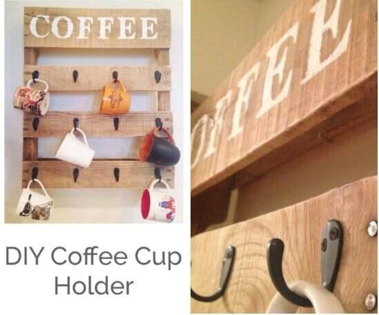 Coffee Cup Holder Farm House